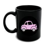 Pink Car Black Mug