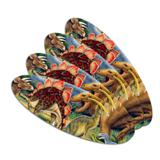 Dinosaurs Jurassic Collage T-Rex Stegasaurus Double-Sided Oval Nail File Emery Board Set 4 Pack