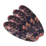 Black Dragon Attacking Flying Fantasy Double-Sided Oval Nail File Emery Board Set 4 Pack