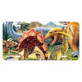 Dinosaurs Jurassic Collage T-Rex Stegasaurus Novelty Metal Vanity Tag License Plate