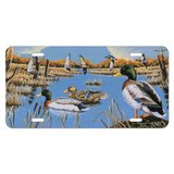 Ducks in the Lake and in Flight Novelty Metal Vanity Tag License Plate
