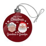 Our First Christmas as Grandma Grandpa Santa Mrs. Claus Acrylic Christmas Tree Holiday Ornament