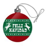 Feliz Navidad with Deer Merry Christmas Acrylic Christmas Tree Holiday Ornament