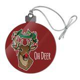 Oh Deer Dear Christmas Holidays Funny Acrylic Christmas Tree Holiday Ornament