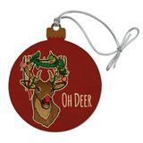 Oh Deer Dear Christmas Holidays Funny Wood Christmas Tree Holiday Ornament