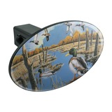 Ducks in the Lake and in Flight Oval Tow Trailer Hitch Cover Plug Insert