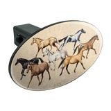 Horses of Different Colors Oval Tow Trailer Hitch Cover Plug Insert