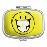 Smiley Smile Sketchy Grin Rectangle Pill Case Trinket Gift Box