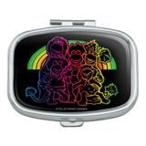 Fraggle Rock Retro Rainbow Rectangle Pill Case Trinket Gift Box