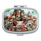 Farm Selfie Horse Pig Chicken Donkey Cow Sheep Rectangle Pill Case Trinket Gift Box