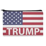 President Trump American Flag Makeup Cosmetic Bag Organizer Pouch