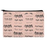 All the Eye Lashes Pattern Pencil Pen Organizer Zipper Pouch Case