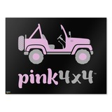 Pink 4x4 Truck Off-Road Logo  Home Business Office Sign