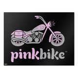 Pink Bike Motorcycle Chopper Logo Home Business Office Sign