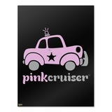 Pink Cruiser Police Car Logo Home Business Office Sign