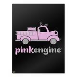 Pink Fire Engine Firefighter Truck Logo Home Business Office Sign