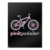 Pink Pedaler Mountain Bike Bicycle Logo Home Business Office Sign