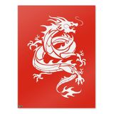 Tribal Dragon Asian Home Business Office Sign