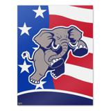 Angry Republican Elephant Politics GOP American Flag Home Business Office Sign
