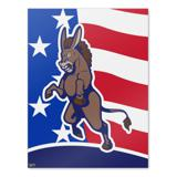 Angry Democrat Donkey Politics America Flag Home Business Office Sign