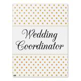 Wedding Coordinator Planner Elegant Polka Dots Home Business Office Sign