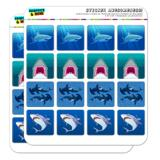Sharks Collection Great White Hammerhead Planner Calendar Scrapbooking Crafting Square Stickers