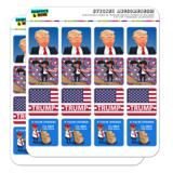 Trump Patriotic Republican Planner Calendar Scrapbooking Crafting Square Stickers
