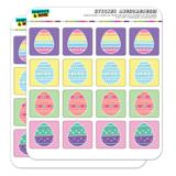 Cute Easter Eggs Heart Daisy Rainbow Dots Planner Calendar Scrapbooking Crafting Square Stickers