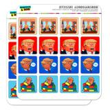 Trump Funny Anti-Trump Tweet Tweet Planner Calendar Scrapbooking Crafting Square Stickers