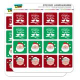 Our First Christmas as Mr. and Mrs. Claus Planner Calendar Scrapbooking Crafting Square Stickers