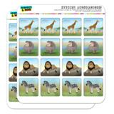 Africa Animals Giraffe Hippo Lion Zebra Planner Calendar Scrapbooking Crafting Square Stickers