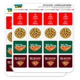 Pizza Fun Planner Calendar Scrapbooking Crafting Square Stickers