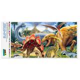 Dinosaurs Jurassic Collage T-Rex Stegasaurus Automotive Car Window Locker Bumper Sticker