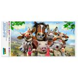 Farm Selfie Horse Pig Chicken Donkey Cow Sheep Automotive Car Window Locker Bumper Sticker