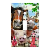 Farm Selfie Horse Pig Chicken Donkey Cow Sheep Plastic Wall Decor Toggle Light Switch Plate Cover