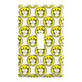Smiley Smile Sketchy Grin Plastic Wall Decor Toggle Light Switch Plate Cover