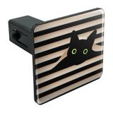 Black Cat In Window Tow Trailer Hitch Cover Plug Insert