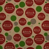 Merry Christmas Holiday Reindeer Premium Kraft Gift Wrap Wrapping Paper Roll