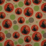 Read Banned Books Witch and Monkey Premium Kraft Gift Wrap Wrapping Paper Roll