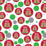 Our New Home Gingerbread House Red Background Premium Gift Wrap Wrapping Paper Roll