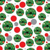 Black Cat Hiding in Christmas Tree Premium Gift Wrap Wrapping Paper Roll