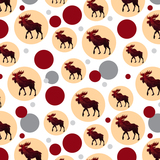 Moose Red Forest Premium Gift Wrap Wrapping Paper Roll