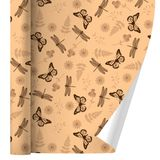 Butterflies and Dragonflies Flower Insect Pattern Premium Roll Gift Wrap Wrapping Paper