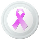 "Breast Cancer Pink Ribbon Novelty 9"" Flying Disc"
