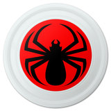 "Spider Black on Red Novelty 9"" Flying Disc"