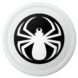 "Spider White Black Widow Novelty 9"" Flying Disc"