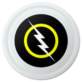 "White Lightning Bolt Novelty 9"" Flying Disc"