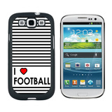 I Love Heart Football Galaxy S3 Case