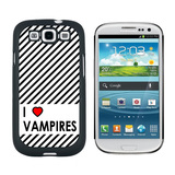 I Love Heart Vampires Galaxy S3 Case
