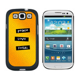 Peace Love Football Galaxy S3 Case